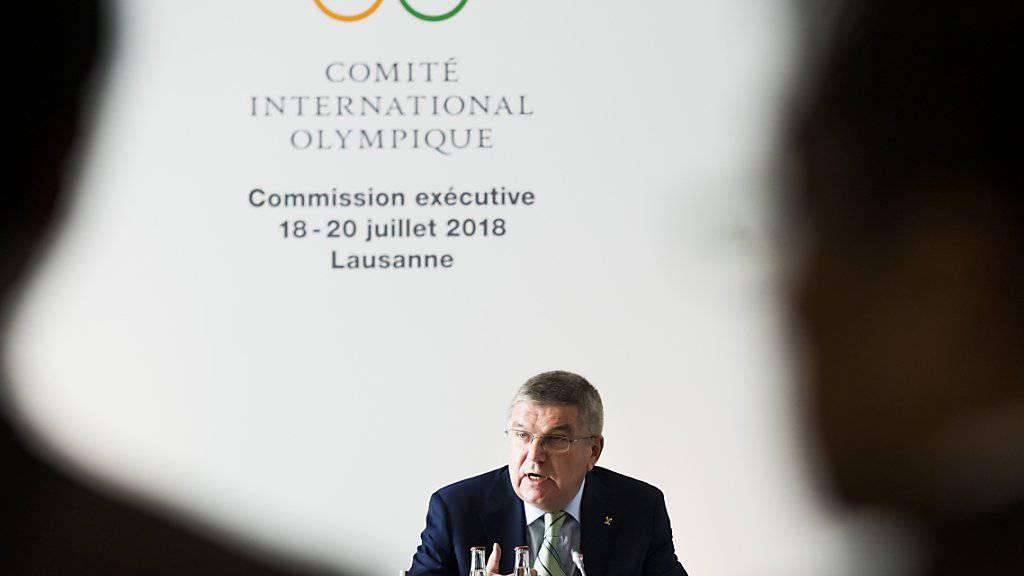 IOC-Präsident Thomas Bach will sich der aufstrebenden E-Sport-Community nicht verschliessen