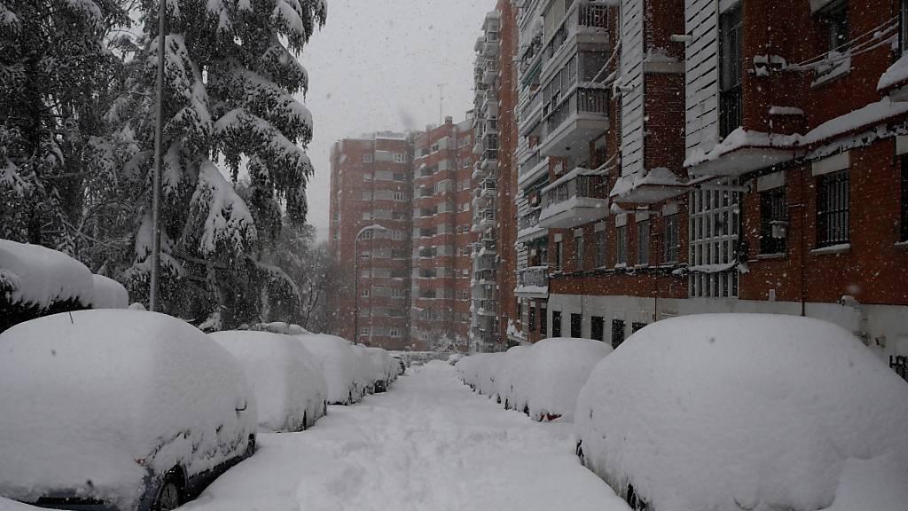Schneesturm verhindert Match in Madrid