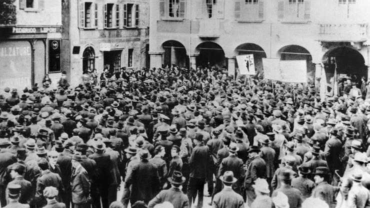 Vor 100 Jahren am 12. November 1918 begann in der Schweiz der Landesstreik...