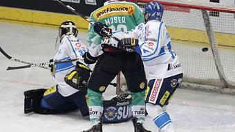 Simon Moser bezwingt Finnland-Hüter Myllyniemi zum 1:0.