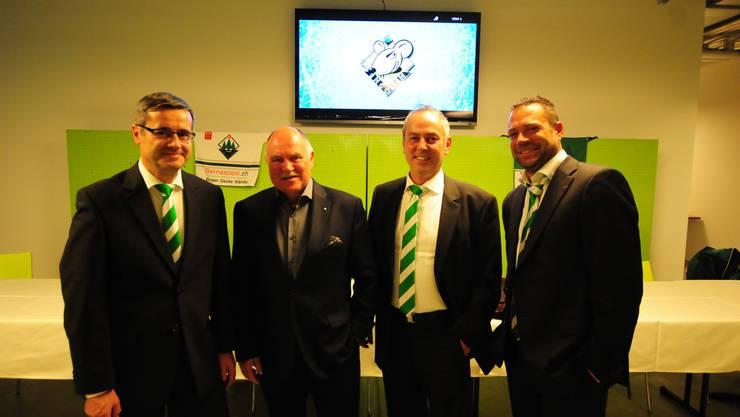 Benvenuto Savoldelli, Urs Hagmann, Roger Rettenmund und Peter Rötheli (v.l.). Es fehlt der neue Verwaltungsrat Yannick Erb.