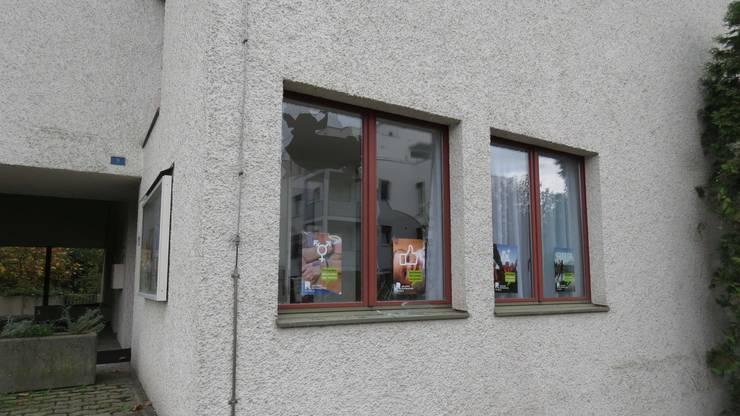 Sie haben Fensterscheiben eingeschlagen.