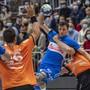 Kaum zu stoppen: Der Weissrusse Hleb Harbuz (mitte) erzielte für Kriens-Luzern acht Tore