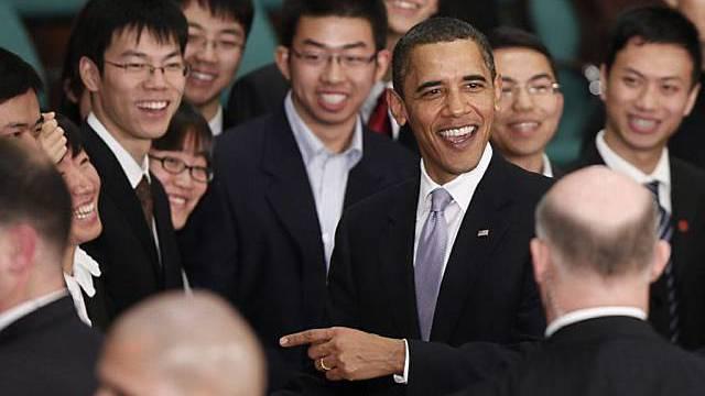 Gute Stimmung in Shanghai: Obama trifft sich mit chinesischen Studenten
