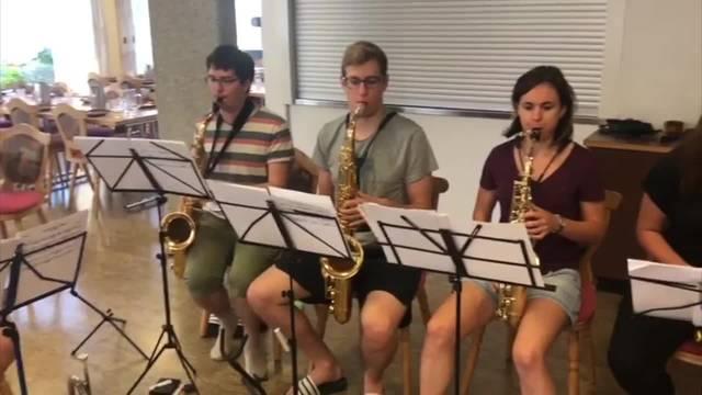 Die Summer Big Band beim Proben