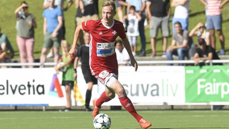 Auch Baden-Stürmer Basil Gmür gehört dem AFV-Team für den Uefa Regionalpokal an.