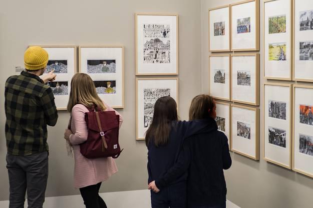 Die Tardi-Ausstellung im Cartoonmuseum stösst auf viel Interesse.