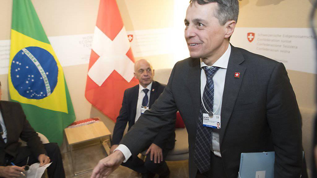 Bundesrat Ignazio Cassis hat am WEF viele Hände geschüttelt.