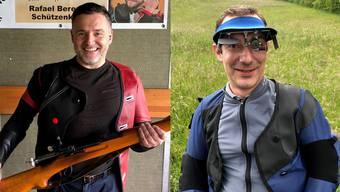 Maximalresultat zum ersten: Jörg Fankhauser (links), Schützengesellschaft Aarau und Maximalresultat zum zweiten: Claude Chenaux, Schiessverein Gansingen.