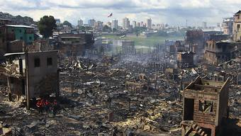 Ein Grossbrand in Brasilien hat am Dienstag mehrere hundert Häuser in einem Armenviertel zerstört.