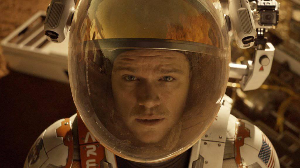 """Matt Damon ist für """"The Martian"""" für einen Oscar nominiert. Unter seinen Konkurrenten sind erneut keine Afroamerikaner (Archiv)."""
