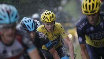 Radfahrer Chris Froome (hinten) an der Tour de France (Archiv)