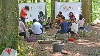Lager im Wald bei Wisen