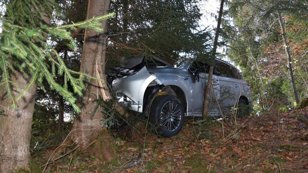 81-Jähriger schrottet Auto bei Selbstunfall