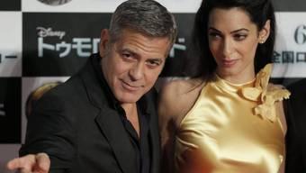 Beim Luxus werden keine Abstriche gemacht: Amal und George Clooney (Archiv)