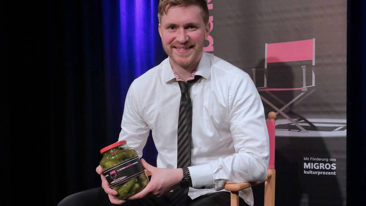 Gregor Stäheli gewinnt die zweite Vorrund des Oltner Kabarett-Castings.
