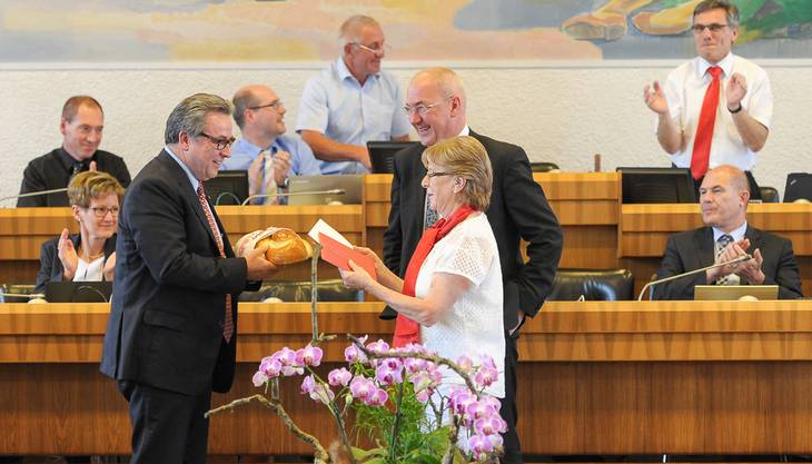 Urs Wüthrich wird am Donnerstag, 25. Juni 2015, vom Landrat feierlich verabschiedet.