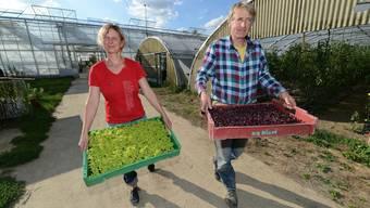 Nicole und Alexander Tanner führen gemeinsam den Birsmattehof.