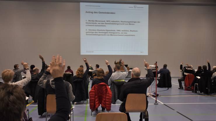 An der Gemeindeversammlung in Merenschwand wurden alle Anträge des Gemeinderats vom Stimmvolk genehmigt.