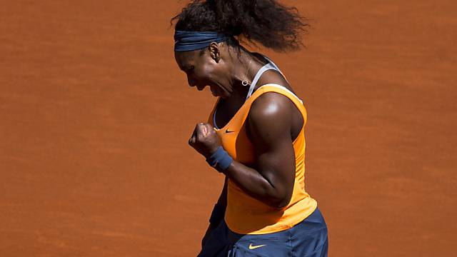 Serena Williams bejubelt den Finaleinzug