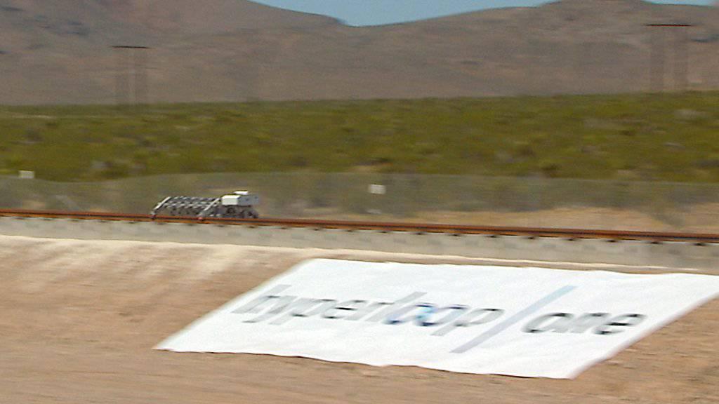Die Hyperloop-Teststrecke in der Wüste in der Nähe von Las Vegas im US-Bundesstaat Nevada. (Archivbild)