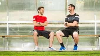 Die beiden kennen sich schon lange: João Paiva (links) übernimmt den Trainerposten von Goran Ivelj. Dieser hat schon mal das GC-Leibchen übergezogen.