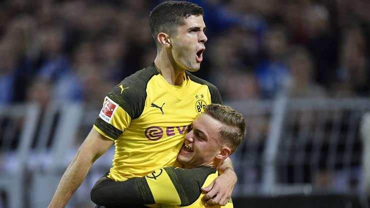 Christian Pulisic (20) und Jakob Bruun Larsen (20) sind zwei der jungen Wilden beim BVB.