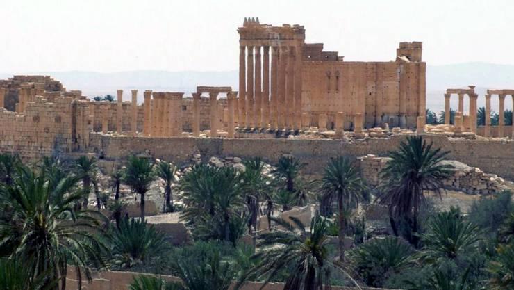 Experten befürchten eine Zerstörung durch den IS der in Palmyra befindlichen antiken Stätten, die zum Weltkulturerbe zählen. (Archiv)