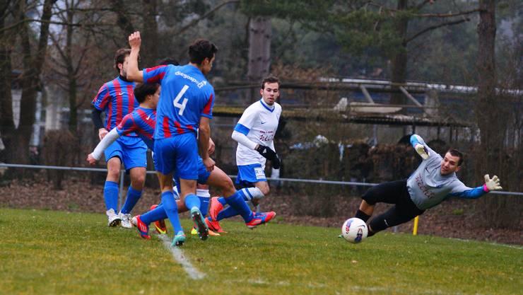 Philippe Knecht erzielt das 2:0 für die Gäste