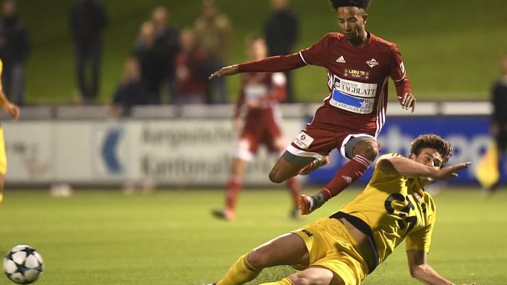 Der FC Baden spielt am nächsten Samstag, 3. März in der Rückrunde der 1. Liga, gegen Sursee.