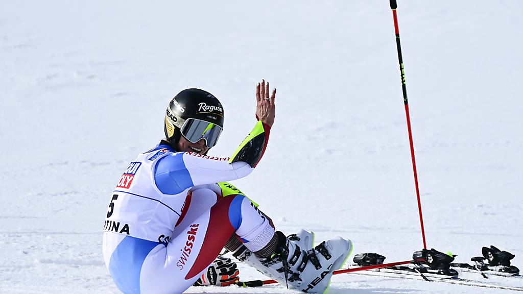 Lara Gut-Behrami im Training schnell - aber mit Torfehler