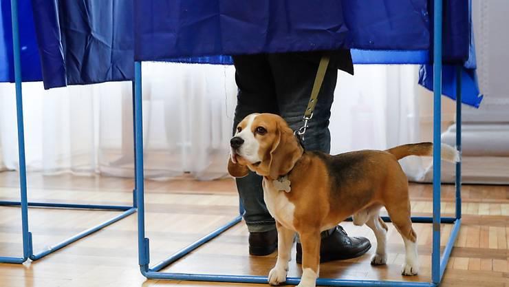 Warten: In der Ukraine hat die Stichwahl um das Präsidentenamt begonnen. Erste Resultate werden für den Abend erwartet.