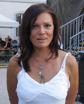 Stefanie Tücking trat als Moderatorin auch bei Festivals oder Events auf, hier bei einem SWR3-Open-Air im Schloss Engers in Neuwied. (6. August 2009)