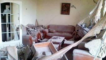 Zerstörtes Gebäude im Viertel Baba Amro in der Stadt Homs (Archiv)