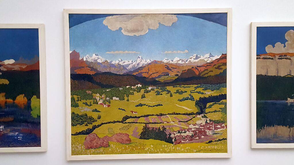 Das Flimser Triptychon ist das letzte und wohl bekannteste der drei grossen Panoramen von Giovanni Giacometti.