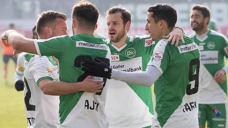 Der FC St. Gallen siegte beim ersten Heimspiel von Tranquillo Barnetta
