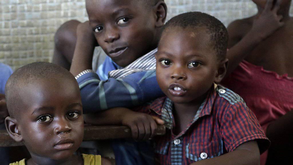 Sie haben Hilfe erhalten: Kinder in einem Auffangzentrum in der verwüsteten Hafenstadt Beira.