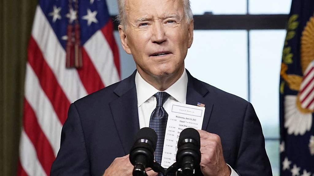 US-Präsident Joe Biden betont am zehnten Jahrestag der Tötung von Al-Kaida-Chef bin Laden, dass die USA trotz des Rückzugs aus Afghanistan weiter Verantwortung in der Region übernehmen. (Archivbild)