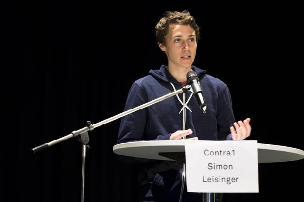 Simon Leisinger von der Kantonsschule Limmattal an.