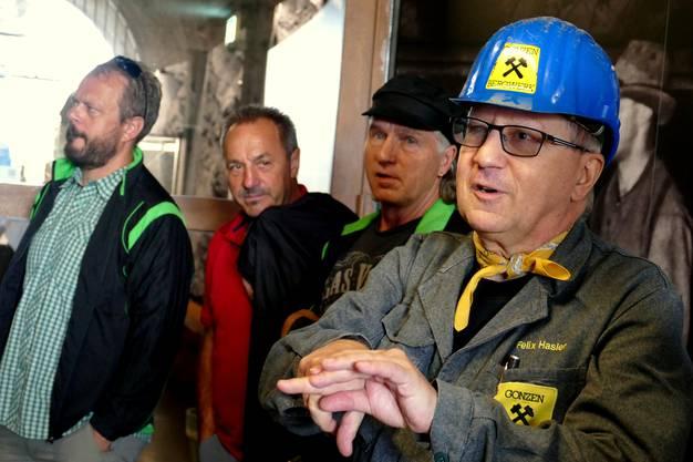 ... erläutert die Geschichte zum Bergwerk Gonzen