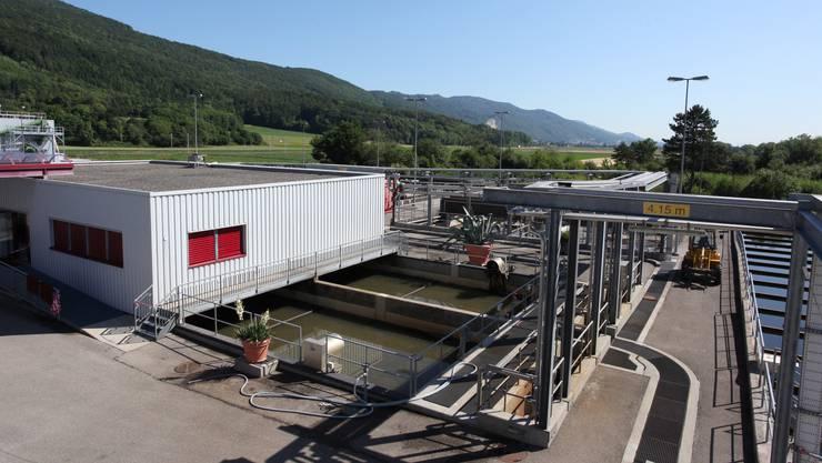 Abwasserreinigungsanlage ARA Oensingen. Kompostieranlage Kompogas Oensingen. Kläranlage, Schmutzwasser.