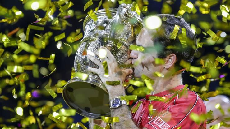 Roger Federer gewinnt zum zehnten Mal die Swiss Indoors.