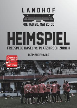 Flyer SUDT-Game Freespeed Basel vs. PlatZHirsch Zürich