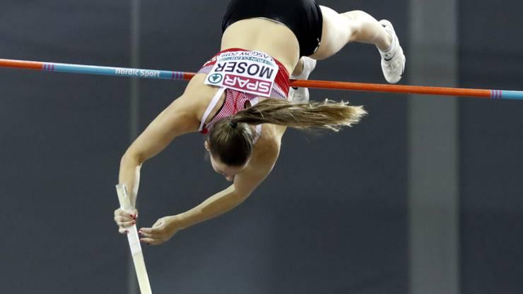 Angelica Moser zeigte in Glasgow eine unerwartet starke Leistung
