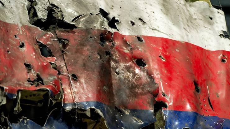 Ein Wrackteil des Flug MH-17 - der Wikipedia-Eintrag dazu wurde von russischen Staatshackern manipuliert