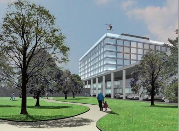 Visualisierung des neuen Bürgerspitals Solothurn