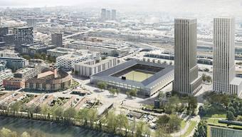 """Die Stadtzürcherinnen und Stadtzürcher stimmen erneut über eine Stadion-Vorlage ab. Denn gegen den privaten Gestaltungsplan für das Projekt """"Ensemble"""" auf dem Zürcher Hardturm-Areal ist das Referendum ergriffen worden. In der Kritik stehen vor allem die """"klimaunverträglichen Hochhäuser""""."""