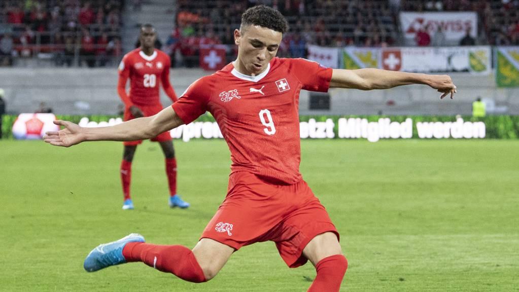 Ruben Vargas, hier im Match der A-Nationalmannschaft gegen Gibraltar, verstärkte die Schweizer U21 nicht nur mit seinem Tor nachhaltig.