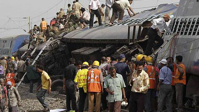 Der Zug war auf dem Weg von Mumbai nach Kalkutta
