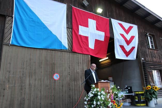 Martin Romer hielt seine Rede vor festlicher Kulisse.